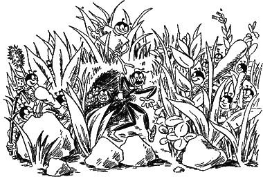 В лесу рабыня муравейник