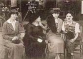 Хелен Келлер на съемках у Чарли Чаплина